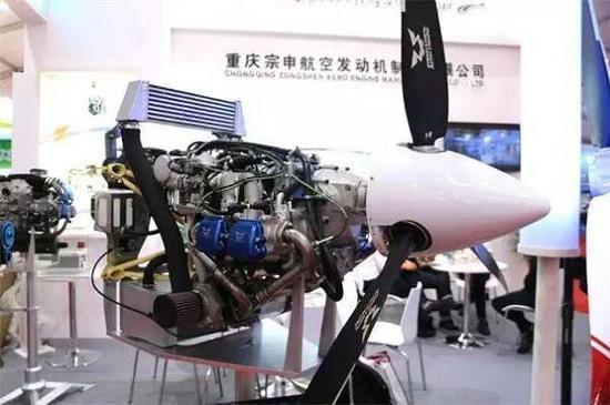翼龙1D配备的宗申航空动力的C145活塞发动机