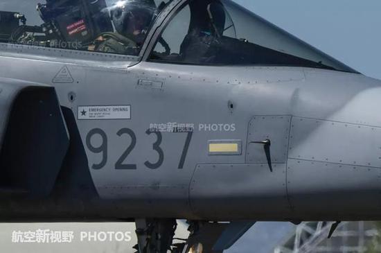 萨博公司的JAS-39战斗机。表面文章做得也不错。