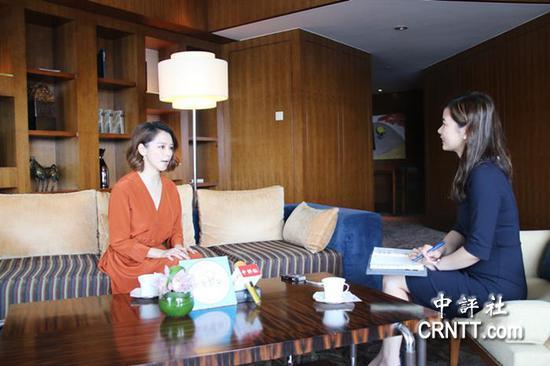 台湾艺人徐若瑄接受中评社记者专访 图片来自中评社