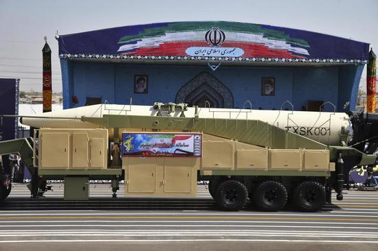原料图:伊朗弹道导弹
