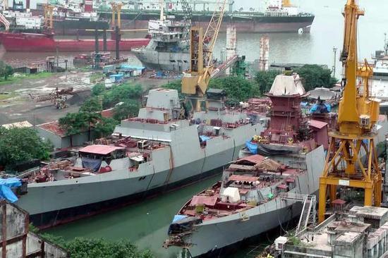 印度落后的造船工业主要制约了其海军力量的添长