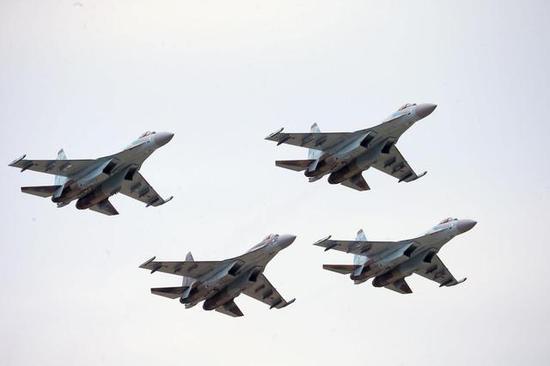 ◎苏-35S战斗机(图片:俄罗斯卫星通讯社)