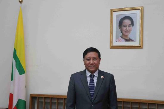 缅甸驻华大使吴帝林翁。黎巧毅 摄