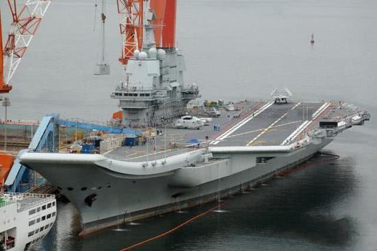 中国加速推进航母建造计划 055A大驱将加装电磁炮
