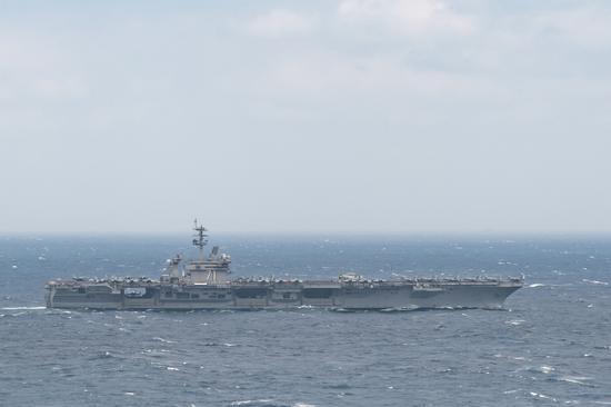 """南海战略态势感知:美""""罗斯福""""号航母进入南海"""