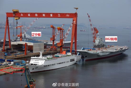 大连造船厂航母_大连船厂或面临这一重大考验 厂内整支航母编队在建|造船厂 ...