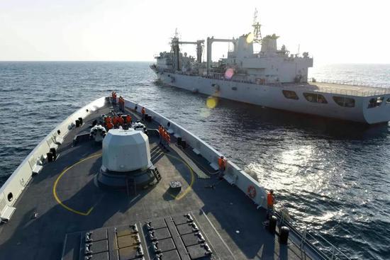 △亚丁湾护航为是中国海军现代化和走向世界的一个重要标志