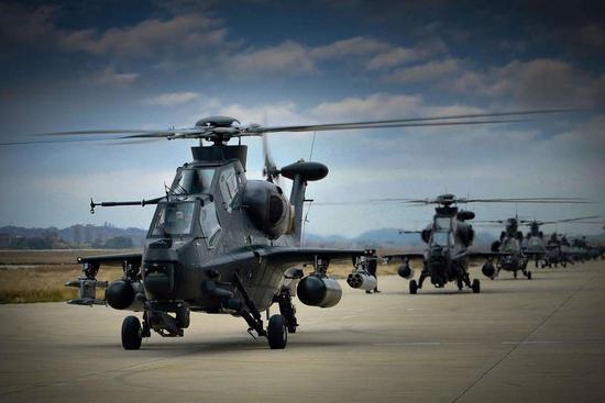 中国武直-10直升机