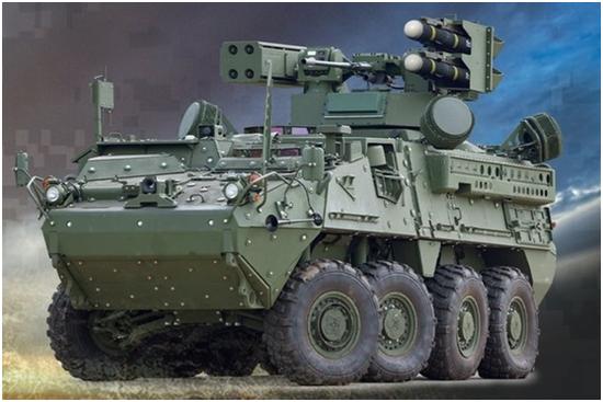 """""""初期机动型短距防空体系""""概念图,上面计划将安置""""毒刺""""导弹"""