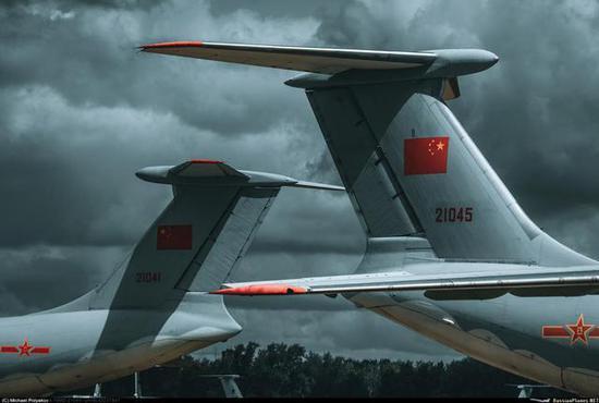 ◎中国空军伊尔-76运输机(图片:毛机网)