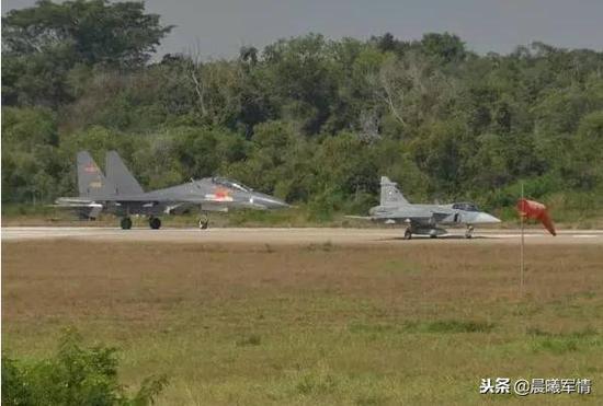 中国空军与泰国空军的说相符军演