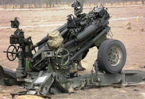 """印度""""炸膛""""的M777火炮"""