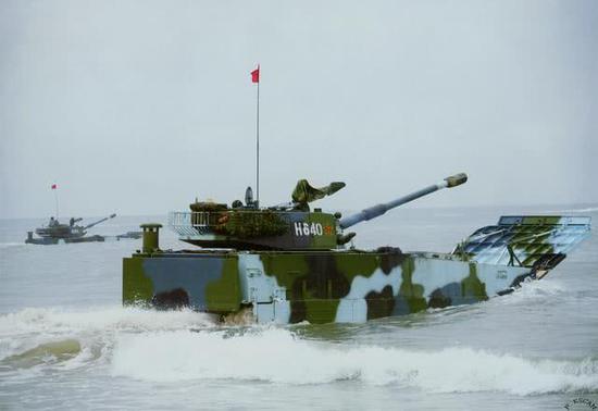 ZBD-05两栖步战车水上速度快火力猛