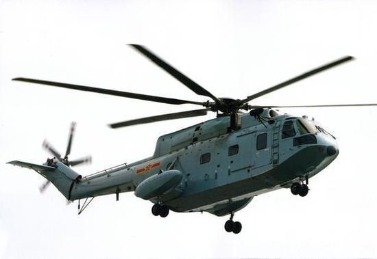 图片:海军新装备的直-8C,可视作是075配套的