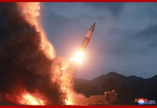 朝鲜新型导弹(来源:朝中社)