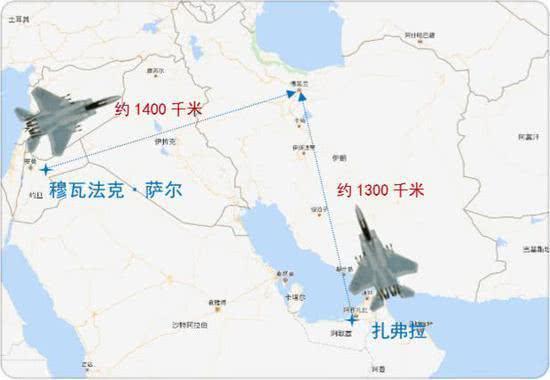 美战机大都部署在距伊朗1500公里内