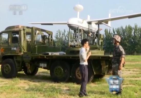 ▲中程无人侦察机(型号据称为BZK-006A)以及其发射车(图片来源:网络)