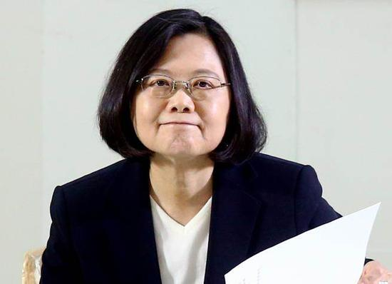 """台湾地区领导人蔡英文(来源:台湾""""中时电子报)"""