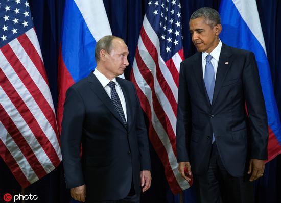 普京(左)和奧巴馬 @IC Photo