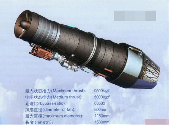 """WS-19""""黄山""""中推发动机"""