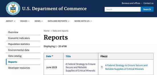 美国商务部发布《确保关键矿物安全可靠供应的联邦战略》