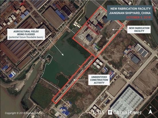 卫星拍摄到的新建设施、不明修建运动和被淹农田