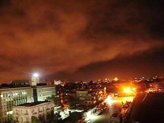 空袭下的大马士革