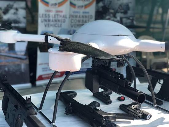 印度武装无人机曝光可携榴弹发射器 印媒:100%国产