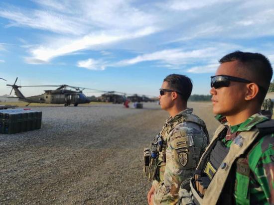 美国陆军坦然部队声援旅的臂章