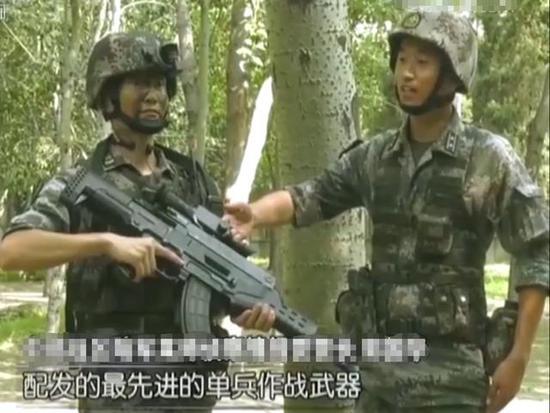 ▲穿戴全套QTS11式单兵综配相符战编制的侦察兵(图片来源于:网络)
