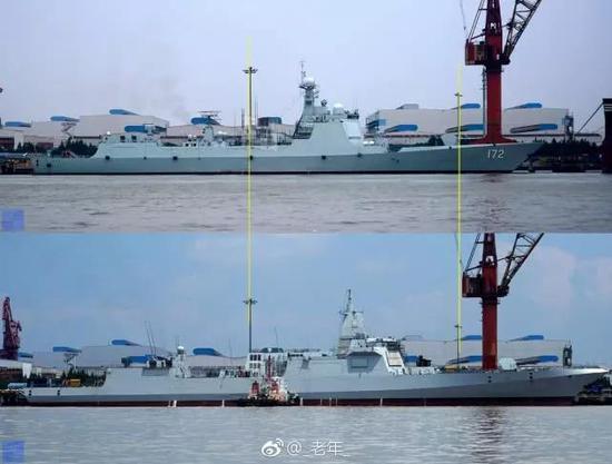 中国052C舰比闯南海美舰更长 吨位为何小了3000吨