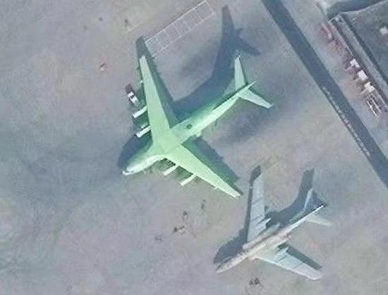 此前曝光的运20U添油机卫星图片