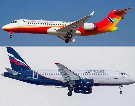 ARJ和SSJ相比,战败是全方位的,异国国际适航证就是一个中间表现