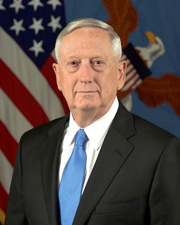 图2 美国国防部长马蒂斯