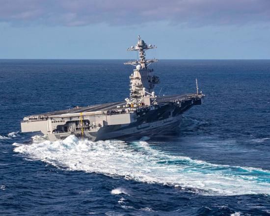 美官员证实:福特号航母爆发新冠疫情 多名舰员感染