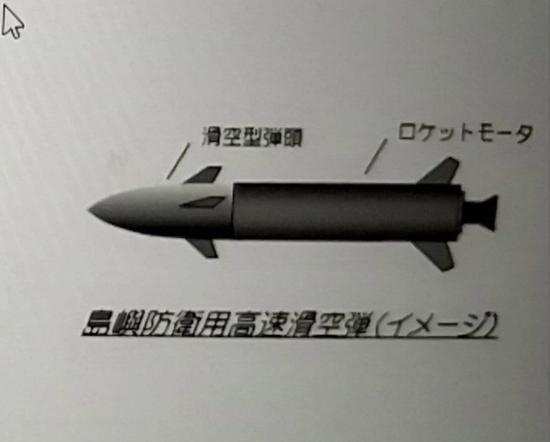 """原料图:日本防卫省正在研发的弹道导弹""""高速滑空弹"""""""