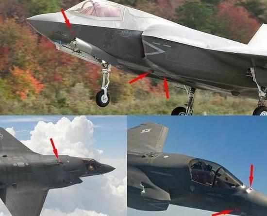 F-35的EODAS分布于机体6个保型不悦目察窗内