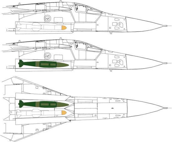 而且,机身还有弹仓,能够挂载炸弹和导弹