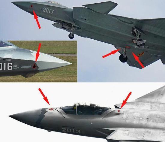 歼20EODAS分布于机体6个保型不悦目察窗内,与F35相通