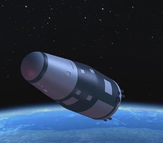 图为航天五院研发的新一代返回式卫星想象图。