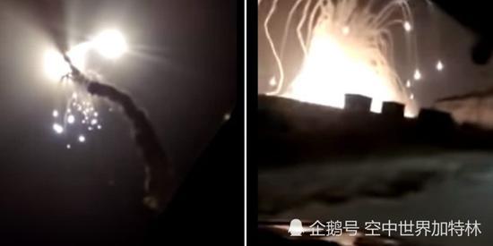 疑似俄军S300导弹发射失败 升空后发生大爆炸(图)