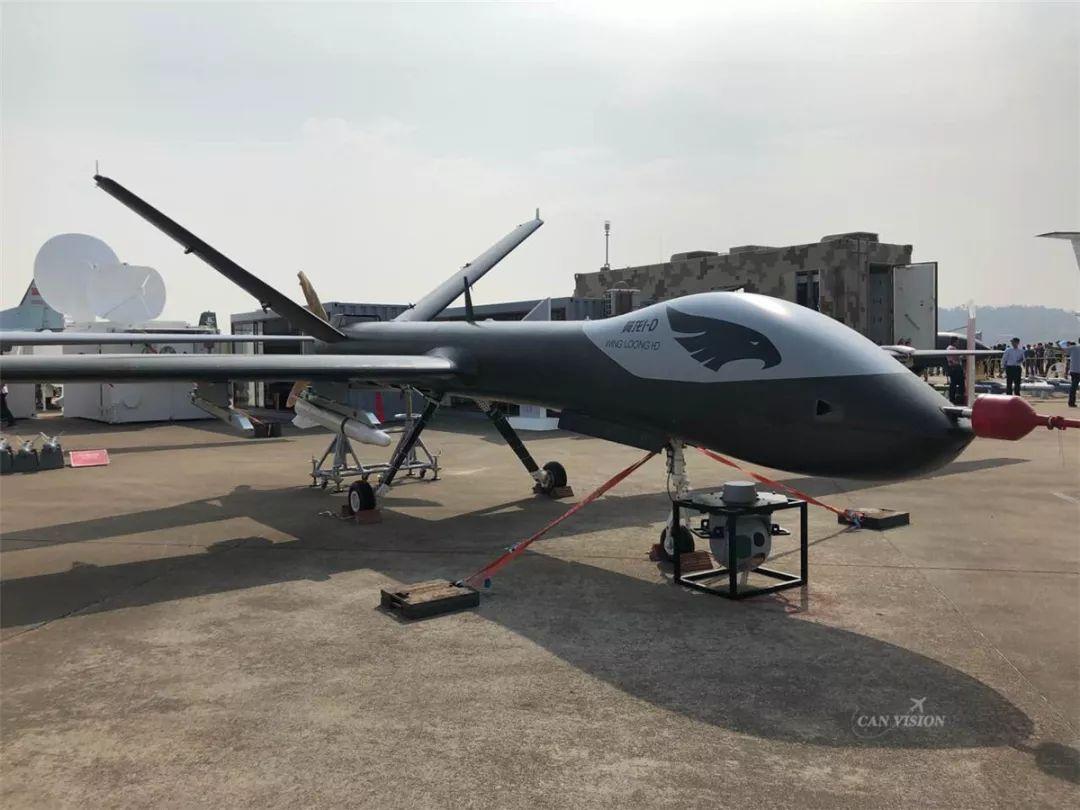 """2018年中国航展上展现的""""翼龙""""I-D无人机 图片来自""""航空工业"""""""