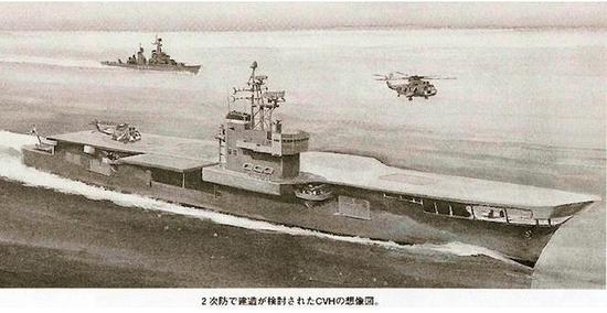 日本造航母的规一致向很悠久,这是70年代的二次防航母