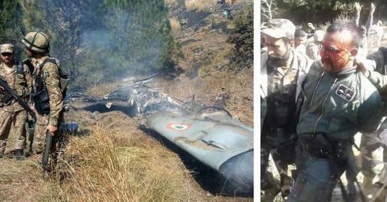印度被击毁的米格-21bis及被俘飞行员