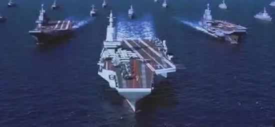 中国电弹航母战力或超辽宁舰1倍 但仅为尼米兹级60%