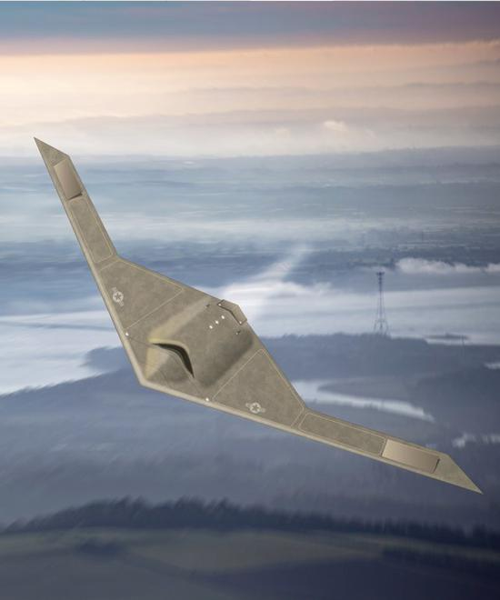 RQ-180隐身无人机想象图
