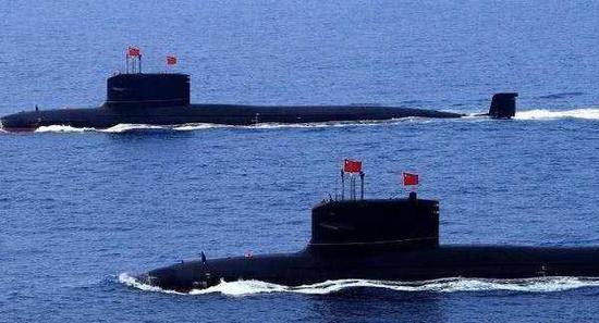 据说是093A型攻击核潜艇的图片