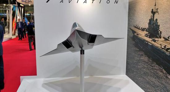 """图为""""NGF""""第六代战斗机的正面特写,带附面层设计的CARET进气道设计清亮可见。"""