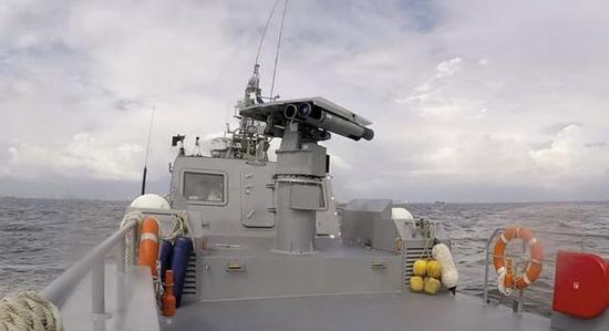 """图为菲律宾已装备的""""海尔法""""近程逆舰导弹。"""