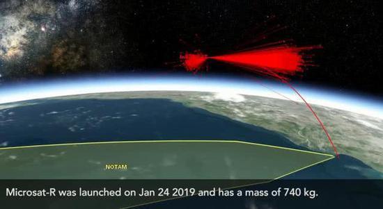 印度反卫星实验造成了大量碎片,少部分喷射到更高的轨道